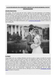 3 CLEVER MEANS TO CONSERVE MONEY ON YOUR WEDDING EVENT PHOTOGRAPHY.pdf
