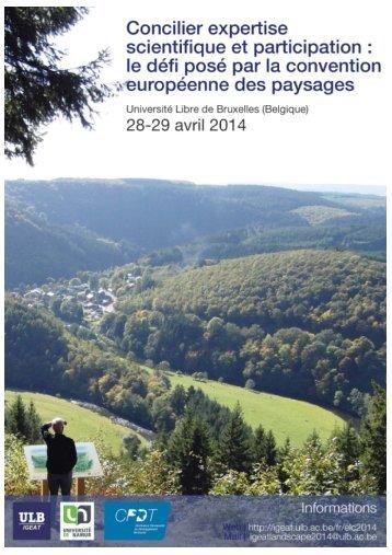 concilier expertise scientifique et participation - Landscape Europe