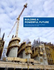 2009-10 Manitoba Hydro Annual Report - Energy Justice