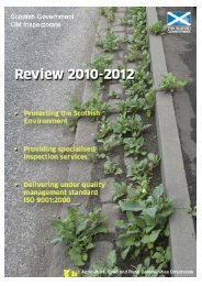 Scottish Government GM Inspectorate Review 2010-12 - SASA