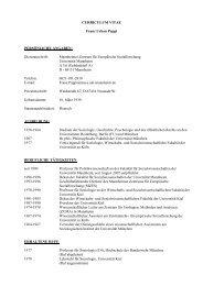 CURRICULUM VITAE Franz Urban Pappi - Mannheimer Zentrum für ...