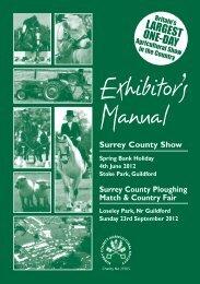 1trade exhibitors manual 12.pdf - Surrey County Agricultural Society