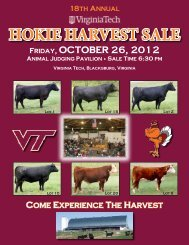 HOKIE HARVEST SALE - Department of Animal and Poultry Sciences