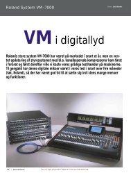 Roland VM-7000, Digitalmixer-system - Soundcheck