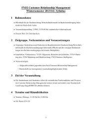 57432 Customer Relationship Management Wintersemester 2013 ...