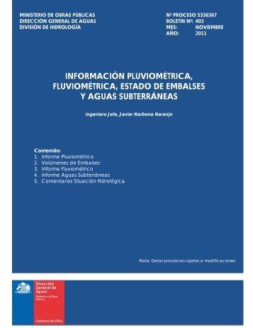 MINISTERIO DE OBRAS PBLICAS - Dirección de General de Aguas