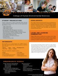 College of Human Environmental Sciences - Office of ...