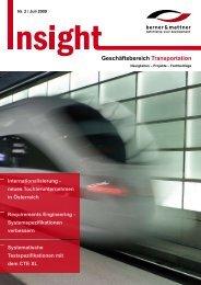 2. Newsletter 'Insight Transportation' (pdf 1,4 MB - Berner & Mattner