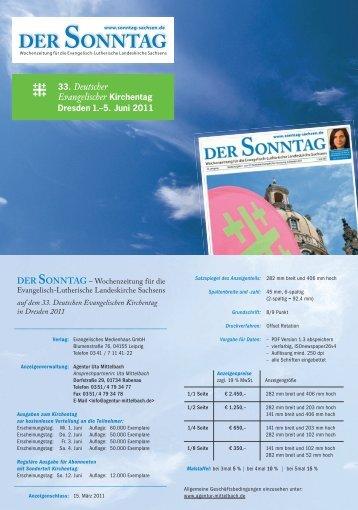 Mediadaten DER SONNTAG // Kirchentag Dresden 2011