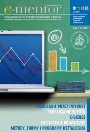 Internetowe narzędzie do nauki matematyki coraz - E-mentor