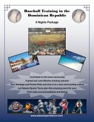 Baseball Training in the Dominican Republic - Selects Sports