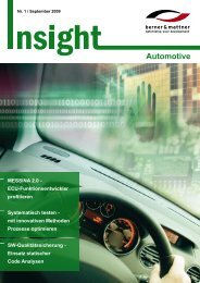 1. Newsletter Automotive - Berner & Mattner