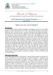 XXIX Domenica del Tempo Ordinario / anno C - ARCIDIOCESI ...
