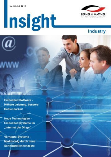 5. Newsletter 'Insight Industry' (pdf 2,8 MB - Berner & Mattner