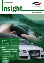 3. Newsletter 'Insight Automotive' (pdf 3,3 MB - Berner & Mattner