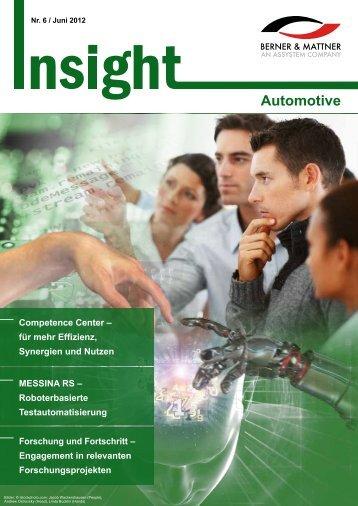 6. Newsletter 'Insight Automotive' (pdf 3,8 MB - Berner & Mattner
