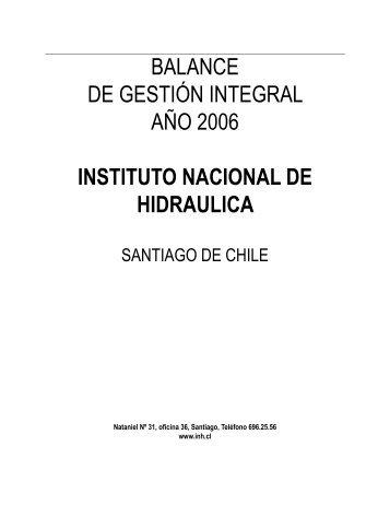 Instituto Nacional de Hidráulica - Dirección de Presupuestos