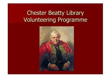 Chester Beatty Library Volunteering Programme