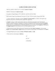 sample nomination letter - Signal Corps Regimental Association
