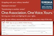 MOAA Basic mbr app card - Military Officers Association of America
