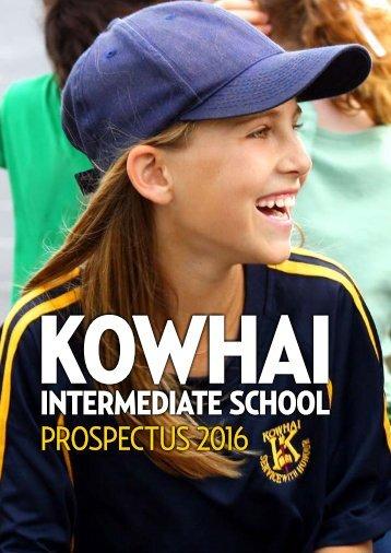 Prospectus - Kowhai Intermediate School