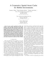 A Cooperative Spatial-Aware Cache for Mobile Environments
