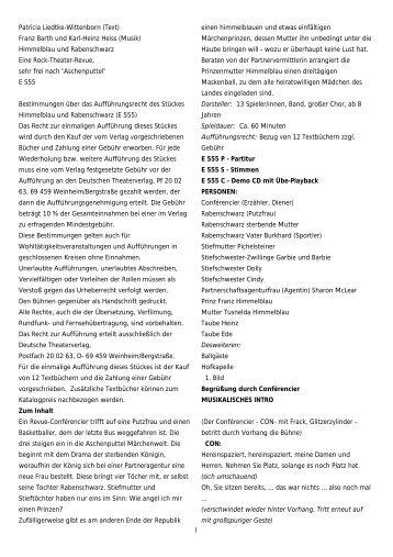 1 Patricia Liedtke-Wittenborn (Text) Franz Barth und Karl-Heinz ...