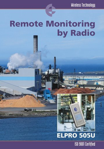 Radio Telemetry (Wireless I/O) - Tabateq catalogue - Elpro 505U