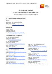Jahresbericht 2009 der Gruppe - Operating Systems and ...