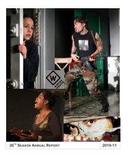 26TH SEASON ANNUAL REPORT - Working Theater