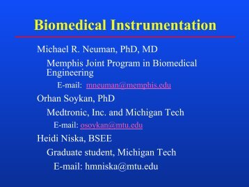 Lecture Notes from 14 January 2003, Tuesday - Biomedical ...