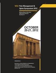 VCU Pain Management & Spine Symposium 2012 - Virginia ...