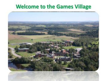 Welcome to the Games Village - Sport Manitoba