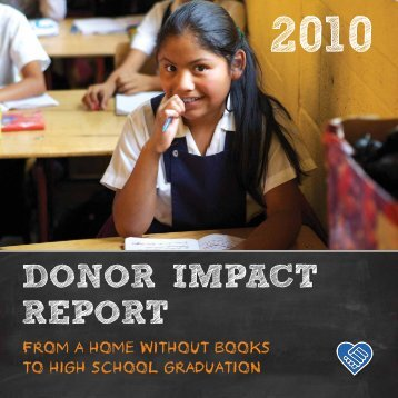 2010 donor impact report - Common Hope