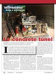 Le concrete túnel - Roads & Bridges
