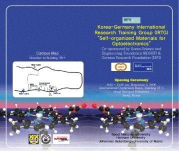 Page 1 Korea-Germany International Research Training Greup ...