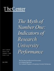 The Myth of Number One: Indicators of Research University ...