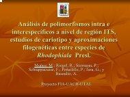 Análisis de polimorfismos intra e interespecíficos a nivel de región ...