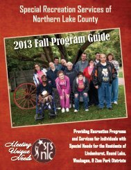 SRSNLC Fall 2013 Brochure - the Round Lake Area Park District!