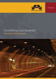 Tunnelling is our business - ALPINE Bau Gmbh