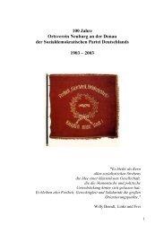 100 Jahre Ortsverein Neuburg an der Donau der - beim Bürgernetz ...