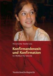 Konfirmandenzeit und Konfirmation - Vandenhoeck & Ruprecht