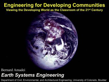 Engineering for Developing Communities - World Resources Institute