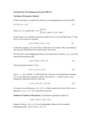 Second Order Differential Equation IV: Non-Homogeneous-Variation ...