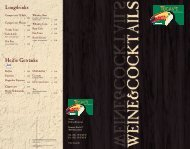 Wein - Tucan's Rodizio-Restaurant