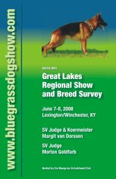 Great Lakes Regional Show and Breed Survey - Bluegrass ...