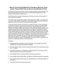 Manual Tank Gauging Method for Emergency Back-Up Tanks and ...