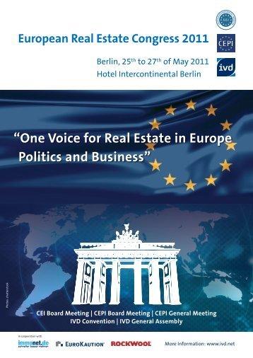 European Real Estate Congress 2011