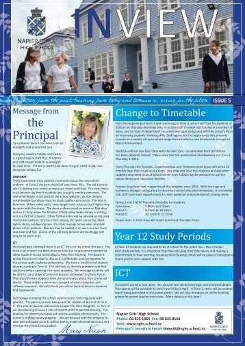the Principal - Napier Girls' High School