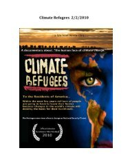 Climate Refugees – Press - America Reloaded